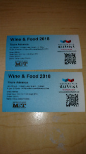 Food and wine show. Thursday tickets!
