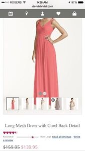 Coral Prom or Bridesmaid dress
