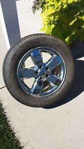 4 Chrome rims for 2010 Ford escape Stratford Kitchener Area image 1