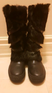 Rudsak black winter boots with real fur