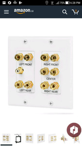 Fosmon [2-Gang 5.1 Surround Distribution] Wall Plate