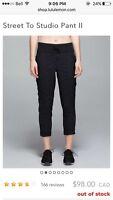 Lululemon Street Studio Pants Size 4