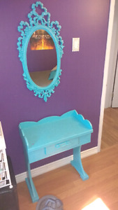 Small Vanity and Decorative Mirror