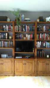 Solid Pine Wall Units/Bookshelves