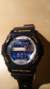 G-Shock glide blue surfer 200m water spirts watch