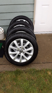 "2012 Volkswagen Golf 16"" wheels and tires"