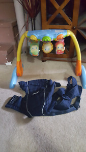 baby gym and carrier