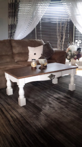 Handcrafted rustic farmhouse coffee table New
