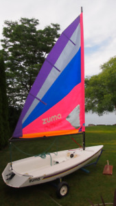 Sailboat: Zuma  (like Sunfish, Laser,  Vanguard) with dolly