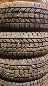 Firestone Winterforce studded winter tires