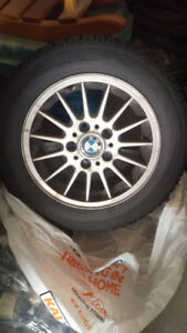 BMW alloy rims and winter tires