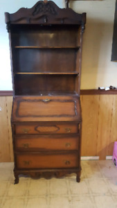 Antique Hutch with glass doors