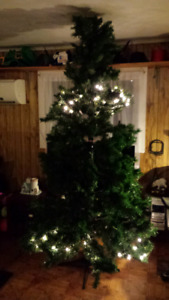 7.5 ft artificial Christmas tree.