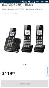 Panasonic Phone with answering machine 3 units
