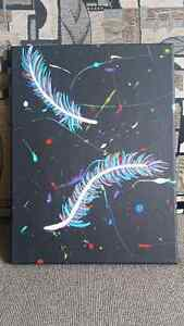 Original Acrylic Feather Painting on Canvas Peterborough Peterborough Area image 4