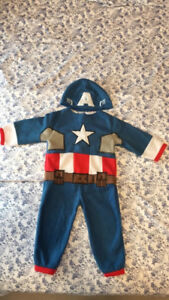 Captain America toddler Halloween costume(Size: 2)