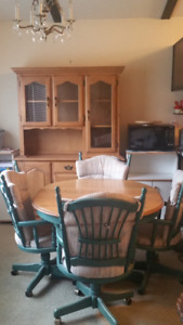 Made in Canada Dining Table, Chairs, and Hutch