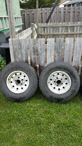 Toyo Open Country 15inch Tires with Chrome Rims