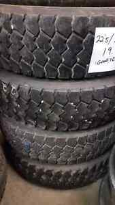 4 - 225/70R 19.6 used Goodyear tires for sale