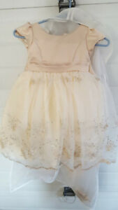 Ivory/taupe size 2 dress