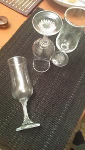 Very Rare Cordial cut Wine Glasses late 1800's