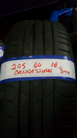 205 60 16 BRIDGESTONE TYRES X4 8MM £140 INC FIT N BAL OPN 7 DAYS