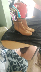 Men's leather boots(clarks