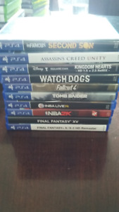 PS4 games, $10 each