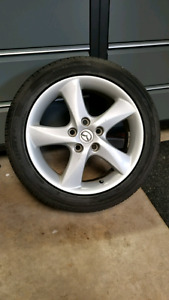 """17"""" Mazda wheels and tires"""