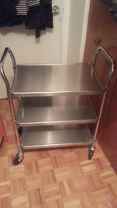 VOLLRATH 97105 Stainless Steel 3-shelf UTILITY CART