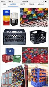 Looking to buy THOUSANDS OF MILK CRATES