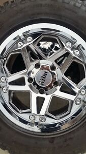4 MOTO METAL RIMS WITH GOODYEAR TERRITORY TIRES LT275/65/18