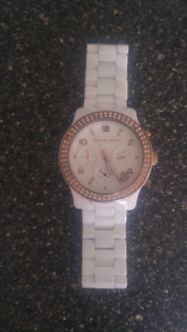 White Ceramic Micheal Khors watch for Sale