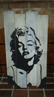 Hand Painted Marilyn Monroe