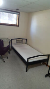 One nice half-basement bedroom for Rent - 4 min to Center Mall