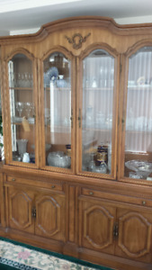 Antique French Cabinet Display Dining Hutch