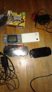 Nintendo DS GBA Sony PSP Consoles and Cases Etc