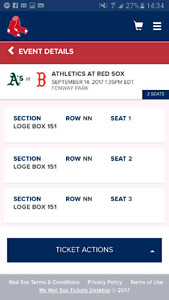 Red Sox Tickets NEED GONE ASAP VERY MOTIVATED