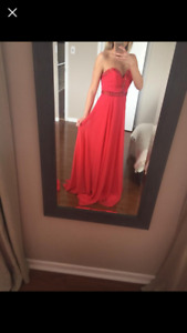 Size 2 red prom dress