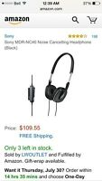 MDR-NC60 Sony Noise Canceling Headphones