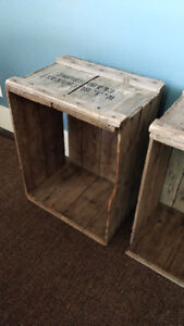 Two Vintage Wood Apple Crates Price is for both