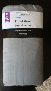 Mainstays King Fitted Sheet - New in packaging