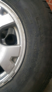 Toyota Tacoma rims and tires.