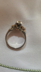 White gold engagement ring size 6