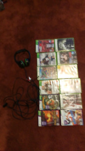 12 Xbox360/ Kinect games. wired Turtle Beach headphone/mic