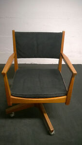 Vintage Teak Desk Chair