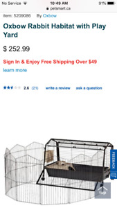 Bunny cage with play yard