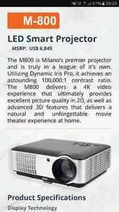 Milano M800 Projector with Screen