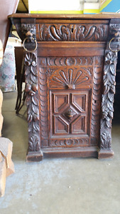 Partners Desk - Carved Oak - Renaissance Style   c.1860's