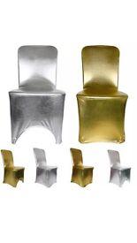 Metallic chair covers